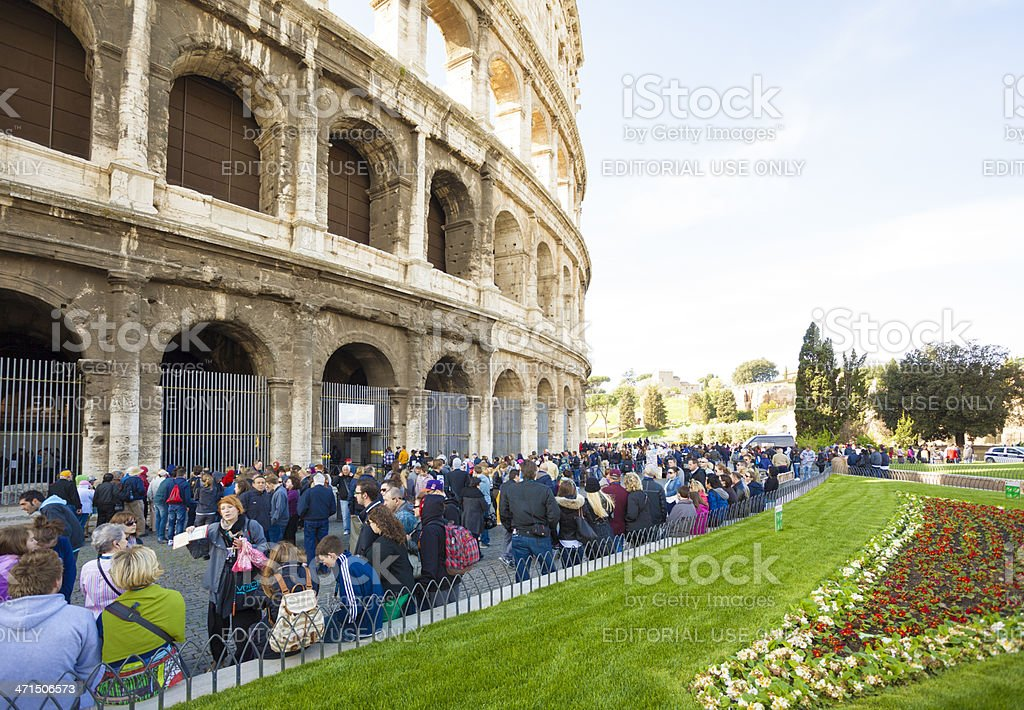 Visiting Colosseum in Rome royalty-free stock photo