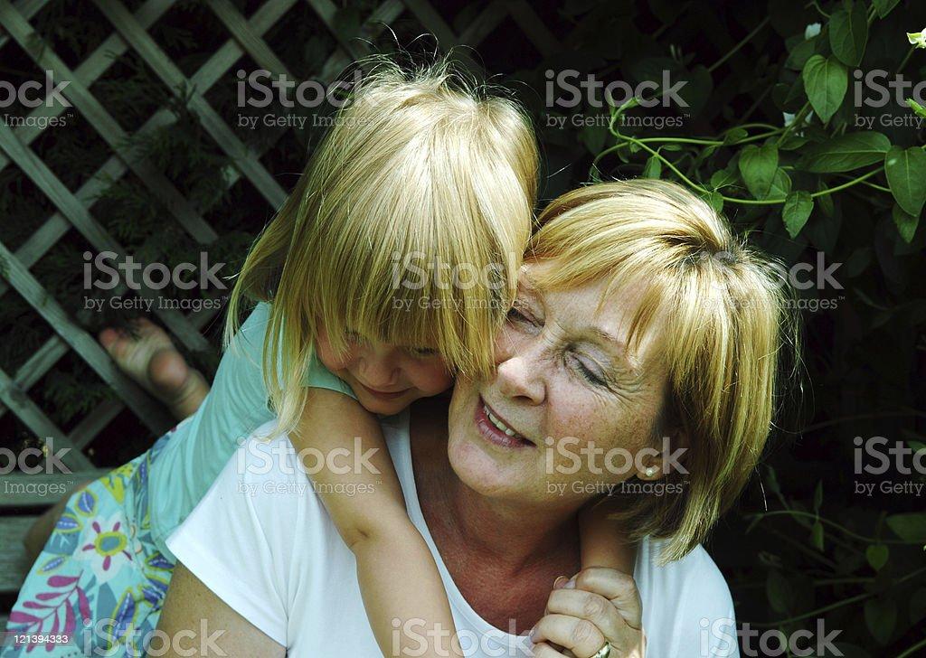 Visiting Grandma royalty-free stock photo