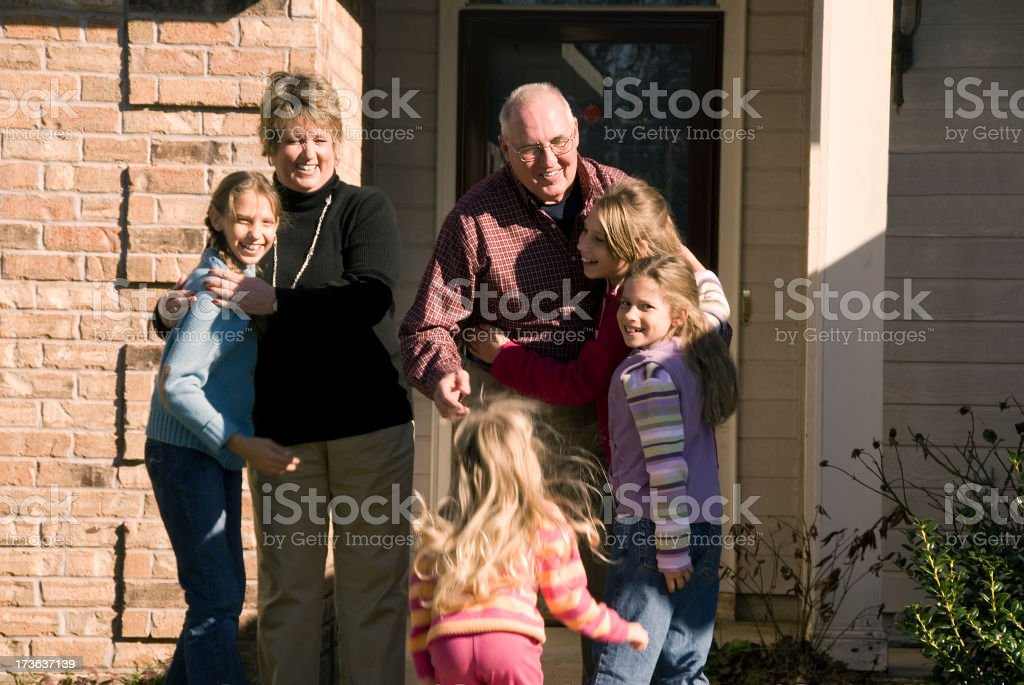 Visiting Grandparents royalty-free stock photo