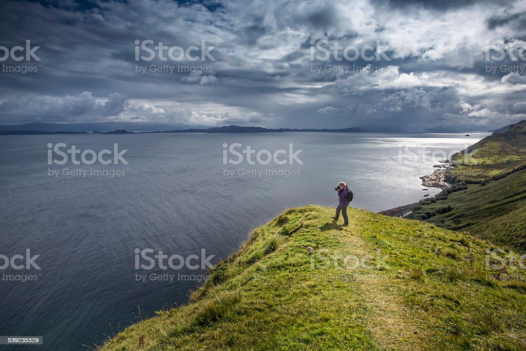 Visiting Isle of Skye stock photo