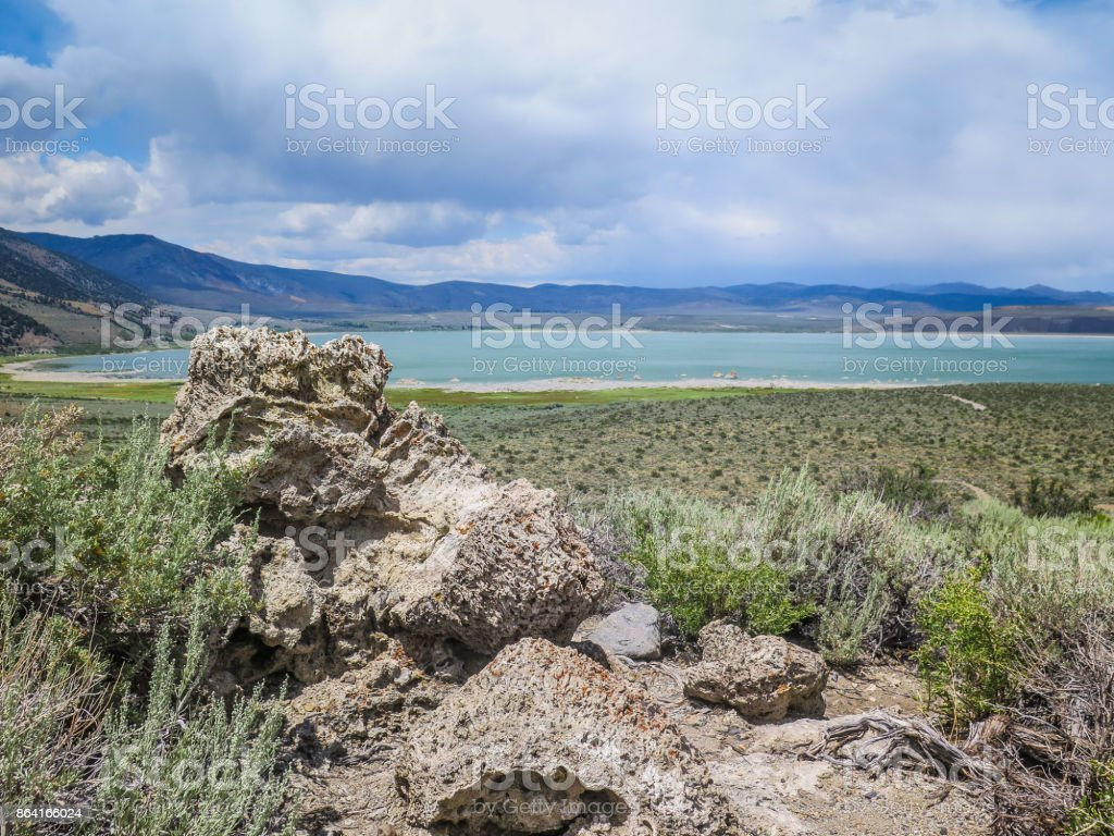 Visiting Mono Lake in California royalty-free stock photo