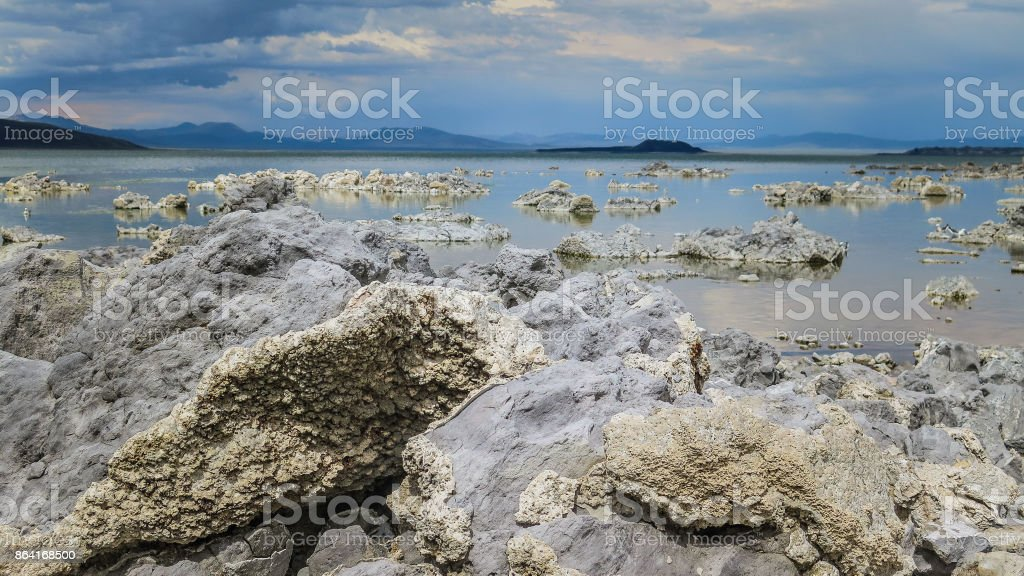 Visiting Mono Lake in California royalty-free stock photo
