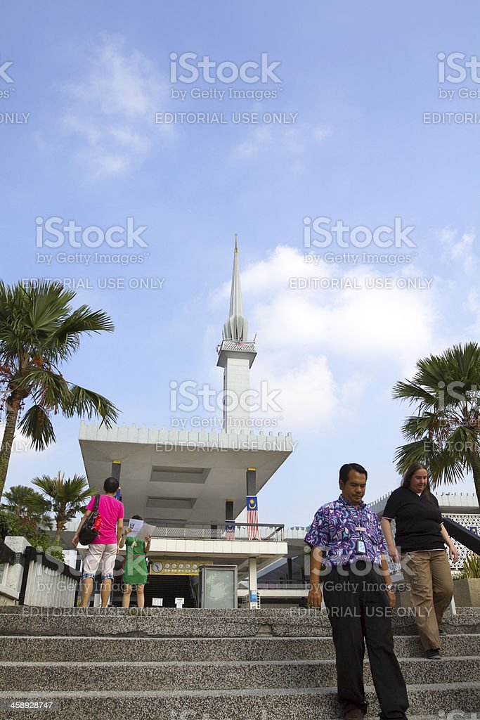 Visiting National Mosque of Malaysia royalty-free stock photo