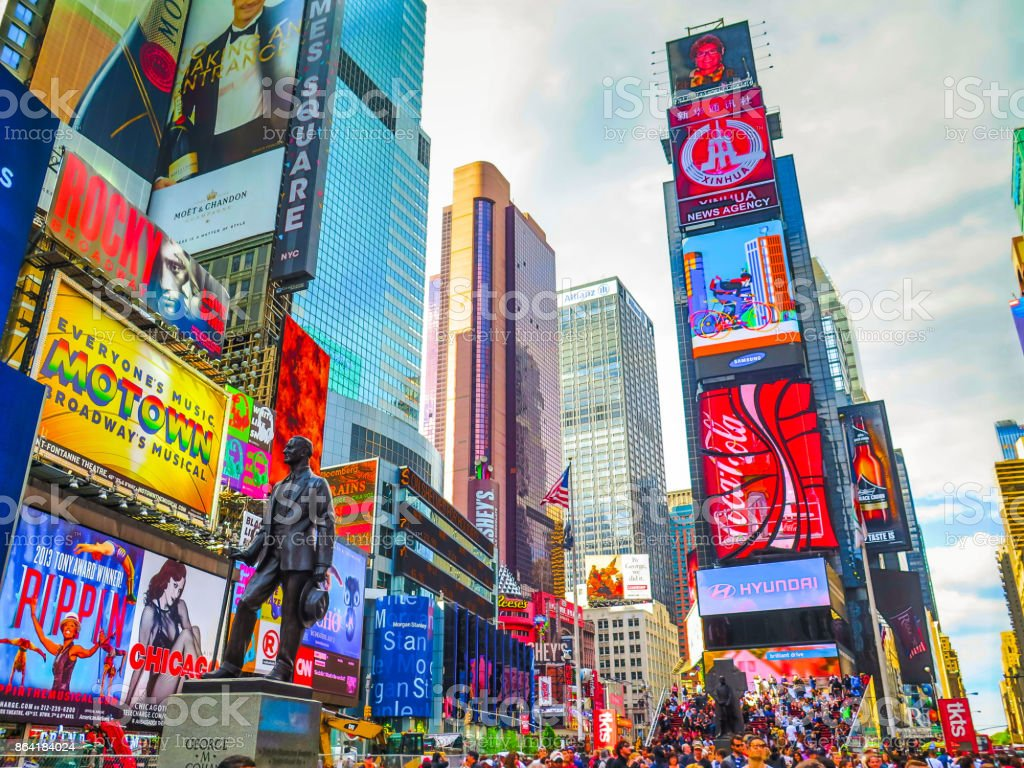 Visiting New-York on the east coast of USA stock photo