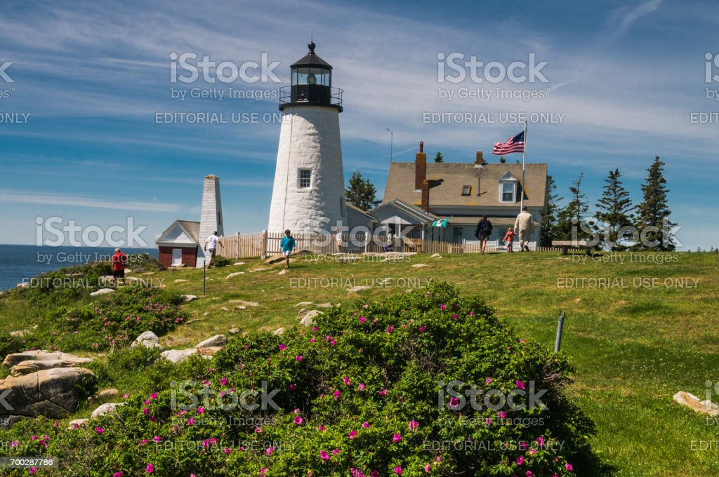 Visiting Pemaquid stock photo