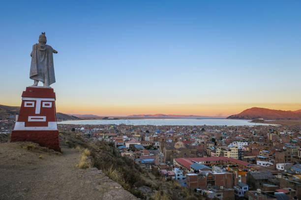 ペルーのプーノを訪問 - プノ ストックフォトと画像
