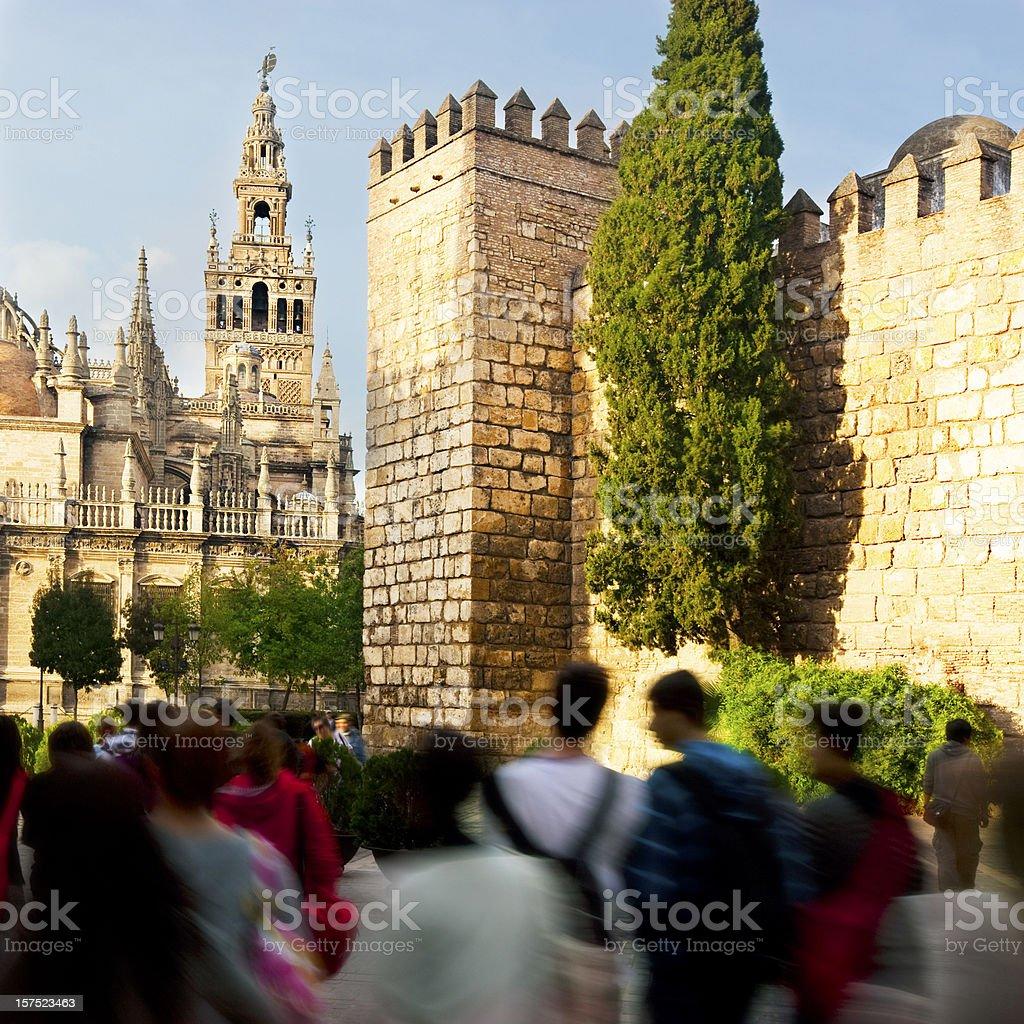 Visiting Sevilla royalty-free stock photo