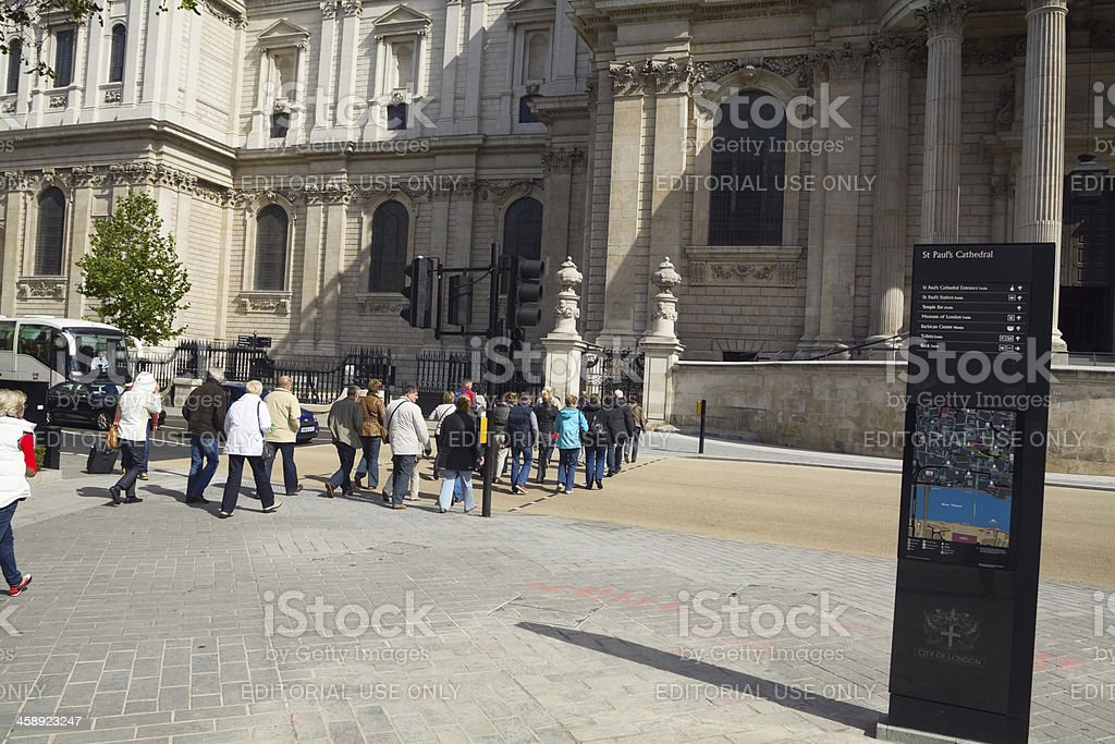 Visiting St. Paul's Cathedral royalty-free stock photo