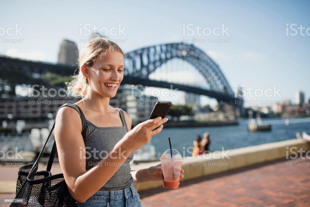 Visiting Sydney stock photo
