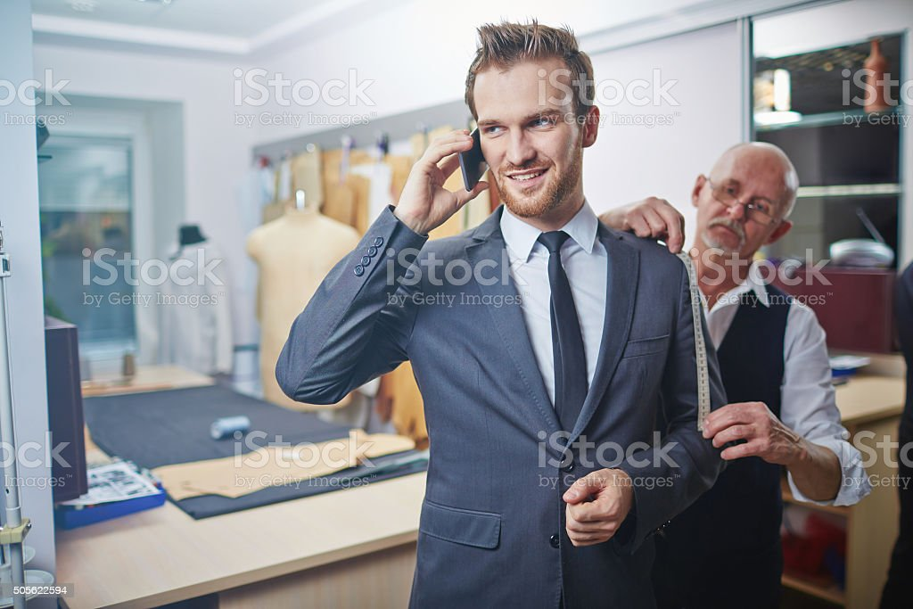 Visiting tailor stock photo