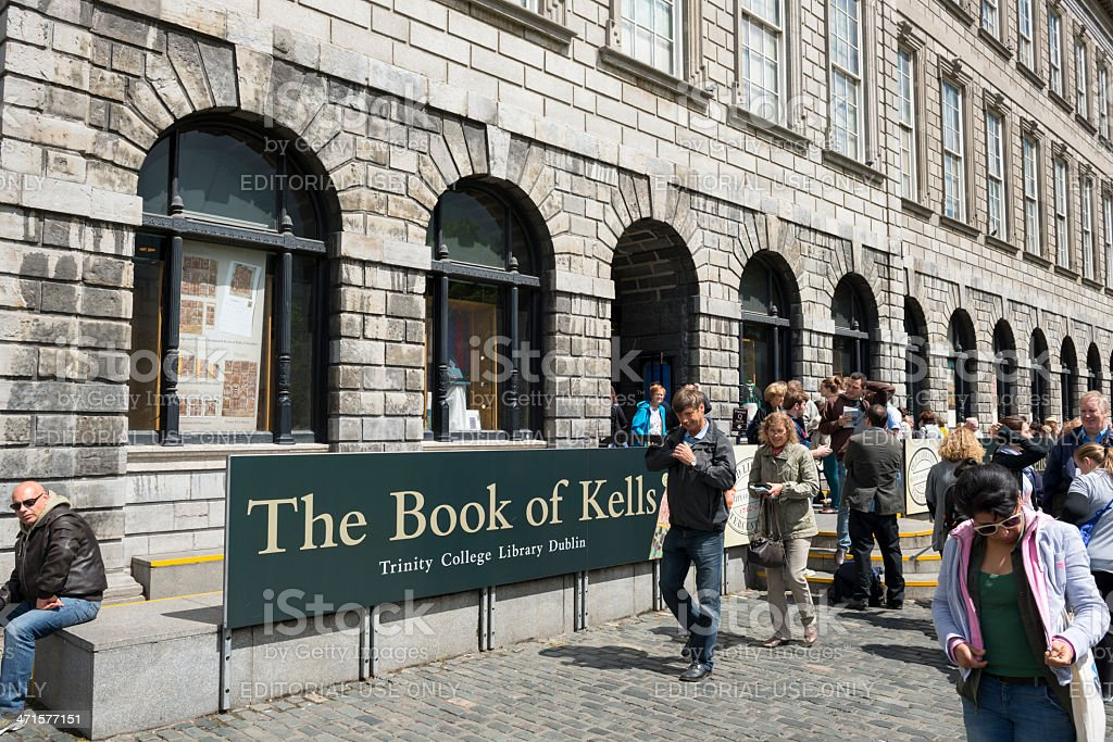 The Book of Kells at Trinity College Dubling stock photo