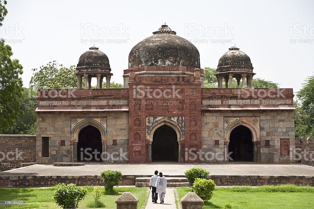 Visiting the Humayun's Tomb, Dehli, India royalty-free stock photo