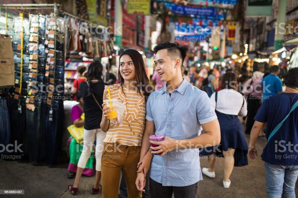 Visiting the Jalan Petaling market royalty-free stock photo