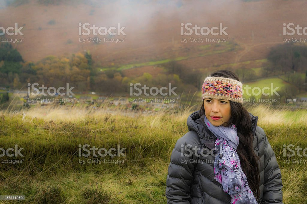 Visiting the Peak District stock photo