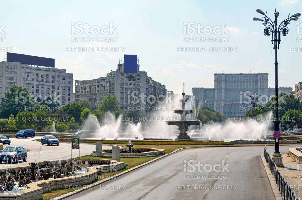 BUCHAREST, ROMANIA - AUGUST 4, 2012: Visiting The People's House. stock photo