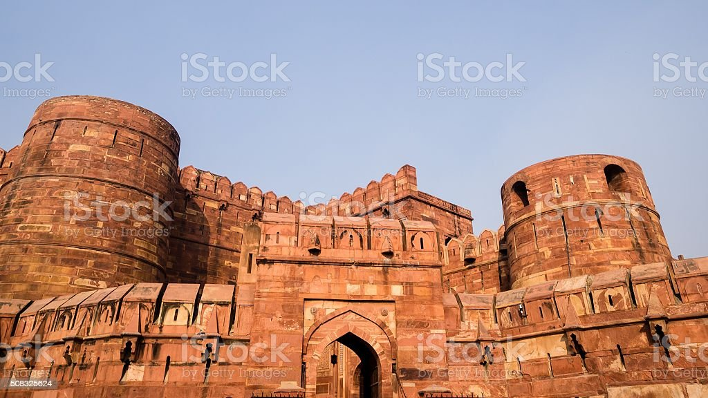 Visiting the red fort in Agra - Royalty-free Agra Stock Photo