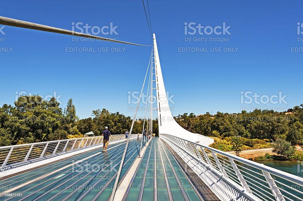 Visiting the Sun Dial Bridge royalty-free stock photo
