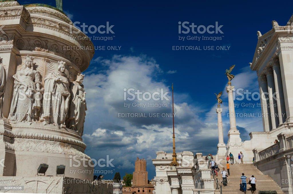 Visiting Vittoriano monument in Rome stock photo