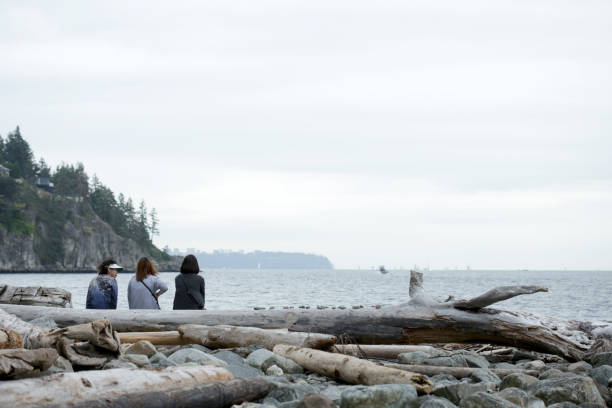 Visiting Whytecliff Park, West Vancouver, Canada stock photo