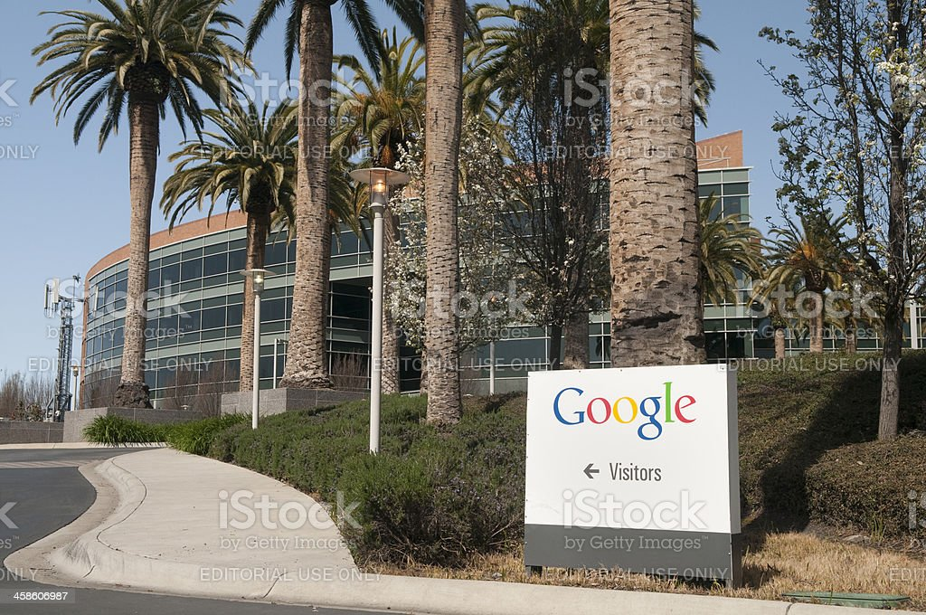 Visitor Entrance at Google Headquarters royalty-free stock photo
