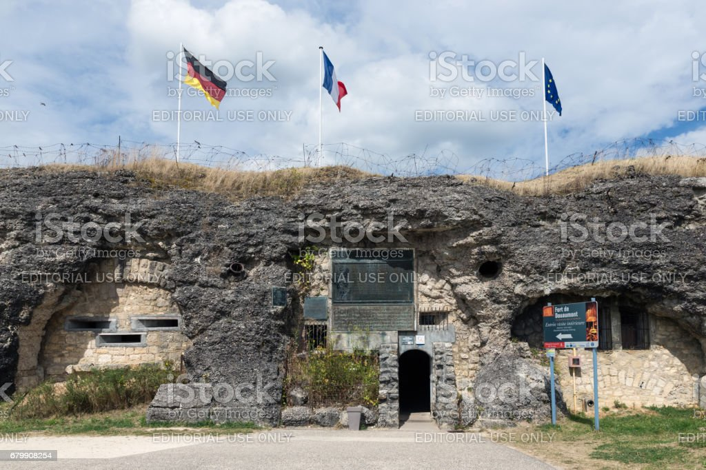 Visitor entrance fort Douaumont. Battlefield of First World War One. – zdjęcie
