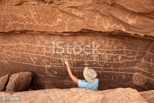 istock Visitor petroglyph wall Canyon of the Ancients National Monument Colorado 517153192