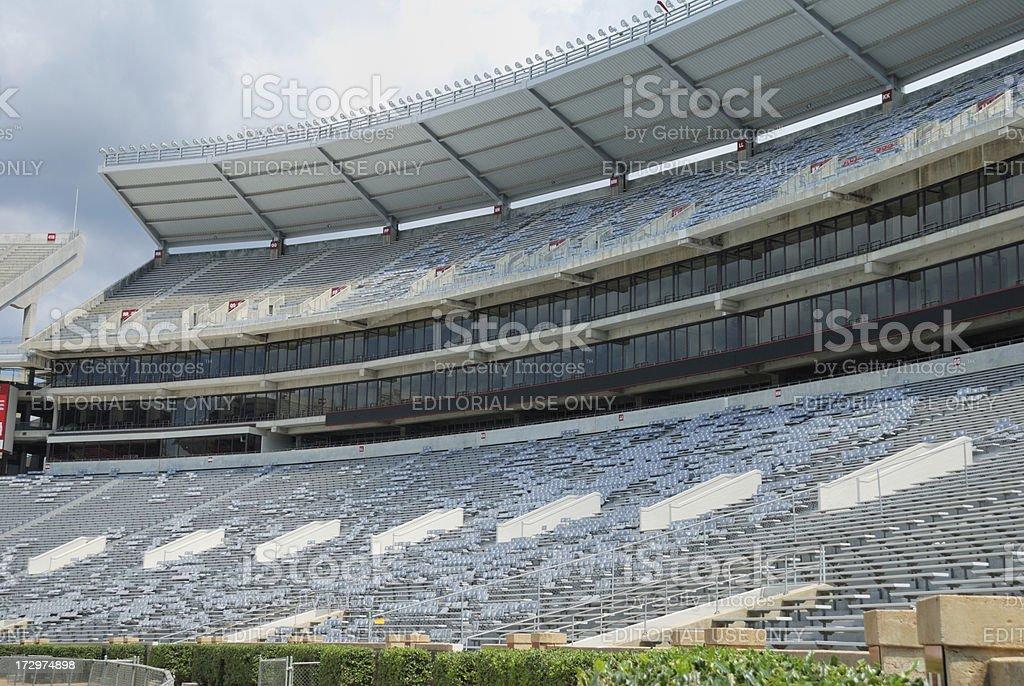 Visitor side of football stadium stock photo
