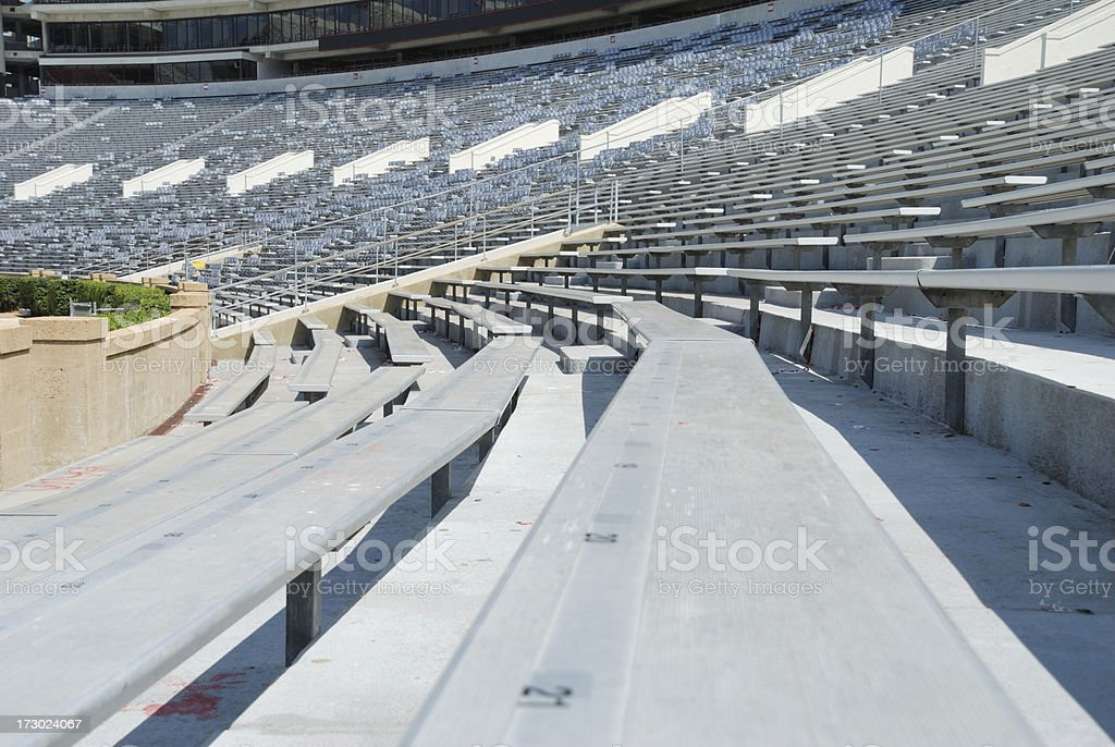 Visitor side of football stadium stock photo