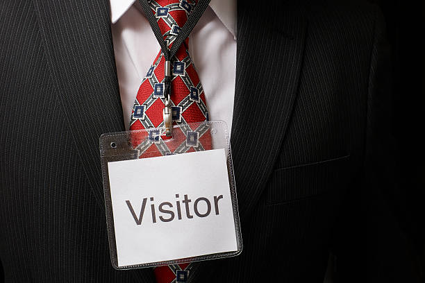 Visitor tag stock photo