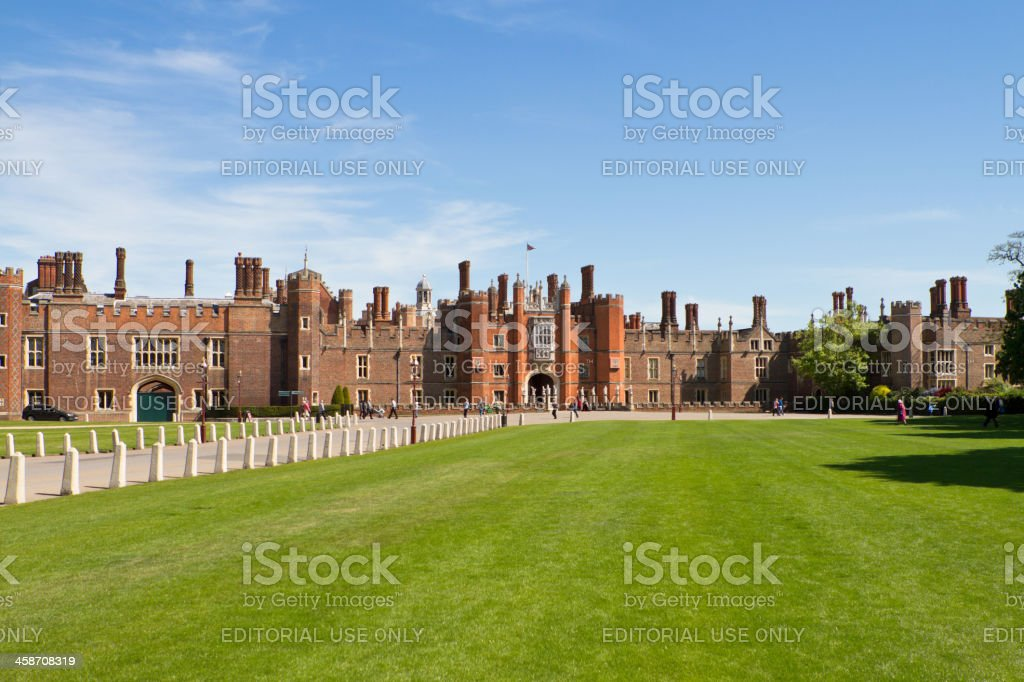 Visitors At Hampton Court Palace In London England stock photo