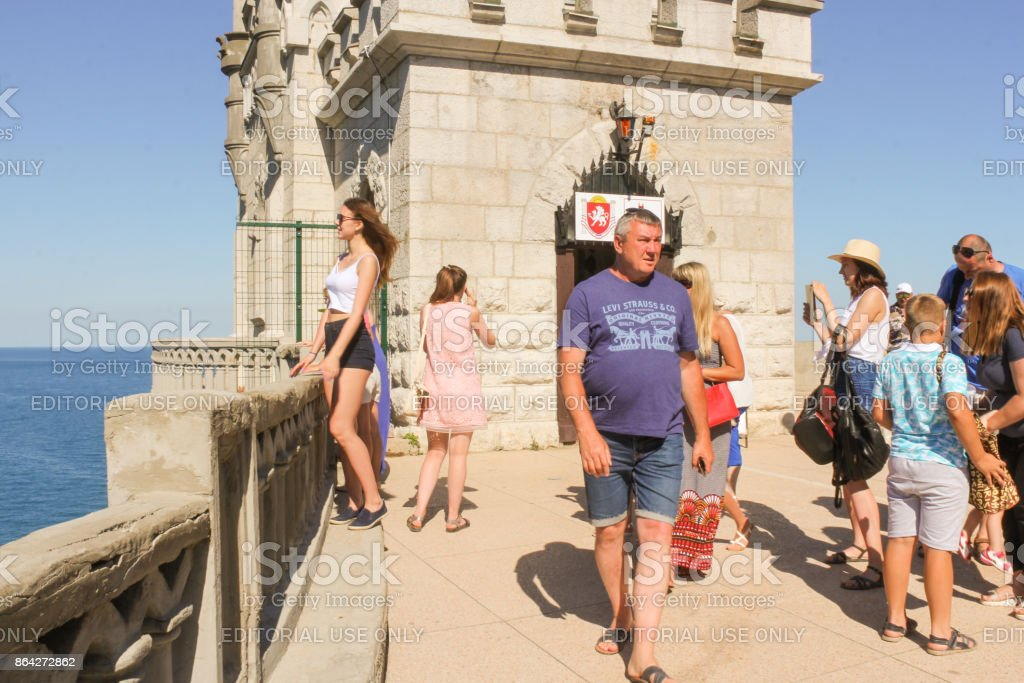 Visitors at the castle. royalty-free stock photo
