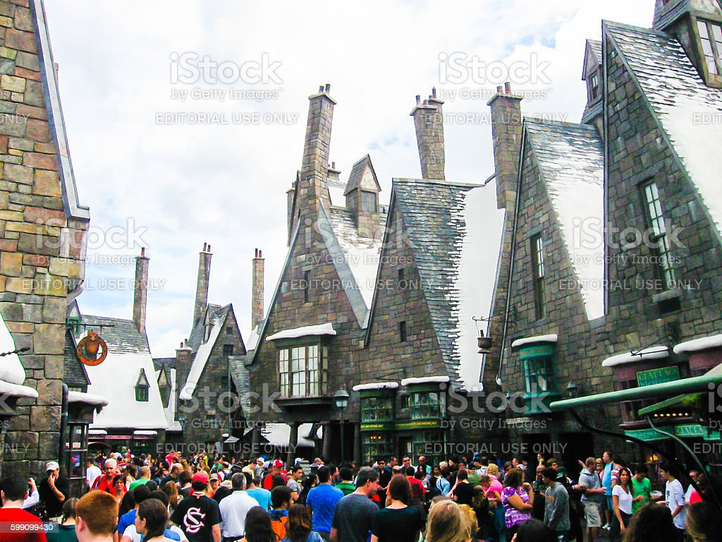 Orlando, USA - January 02, 2014: Visitors enjoying the Harry stock photo