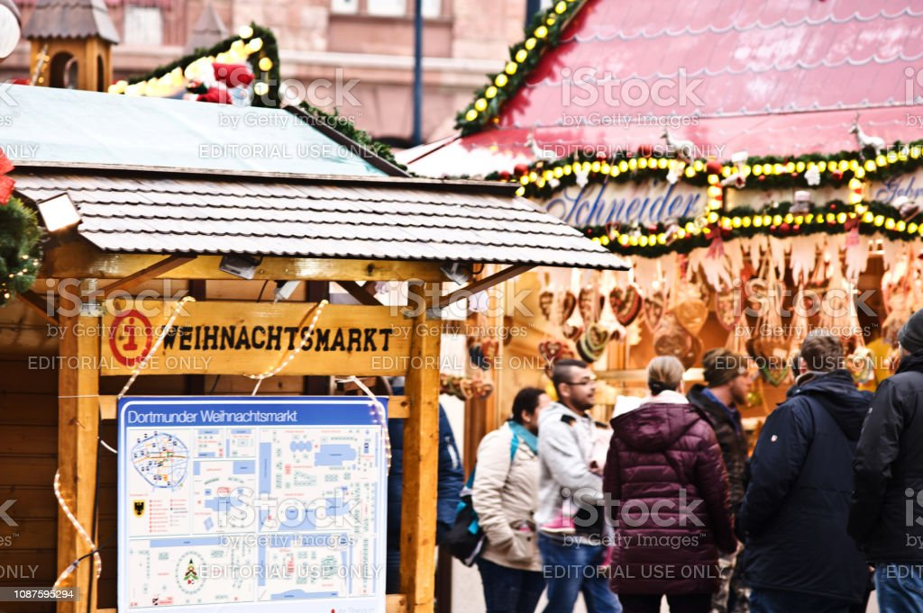 Visitors Enjoying The Scene At The Dortmund Christmas Market In Germany Stock Photo Download Image Now Istock