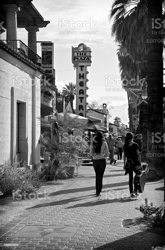 Visitors in downtown Palm Srpings California, USA royalty-free stock photo