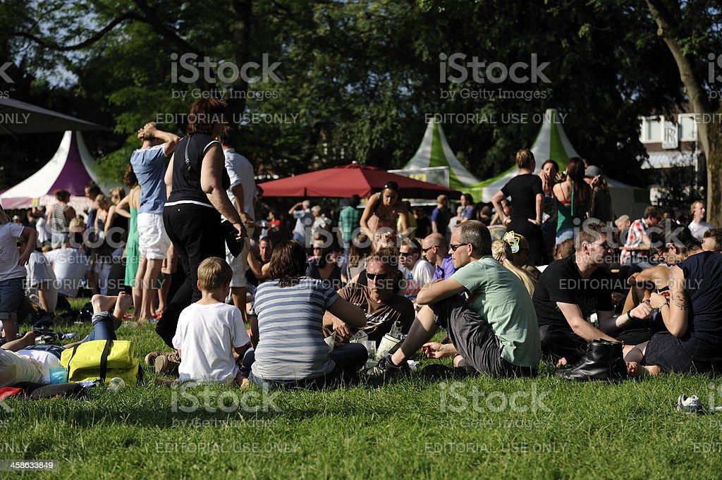 Visitors of festival Wereldfeest in Utrecht royalty-free stock photo