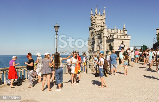 Visitors On The Site At The Castle Stock Photo & More Pictures of Architecture
