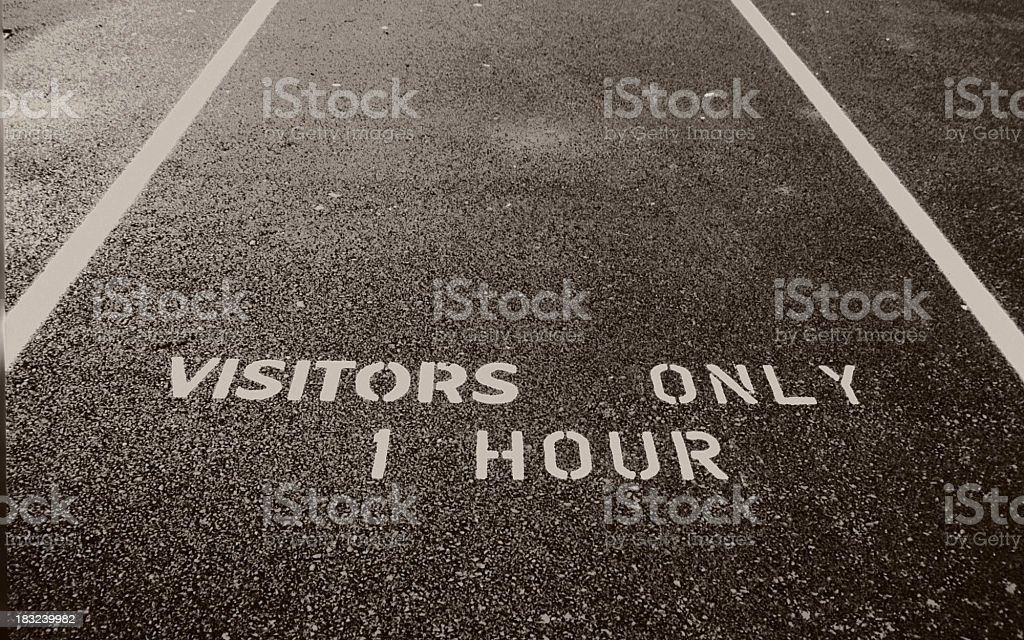 Visitors Only royalty-free stock photo