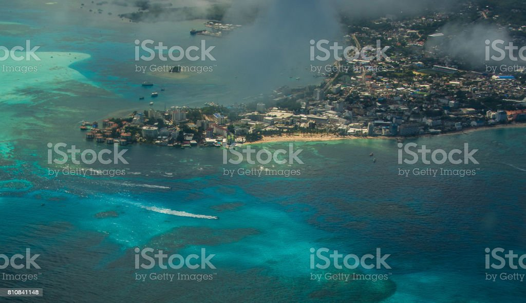 Vista aerea san andres stock photo