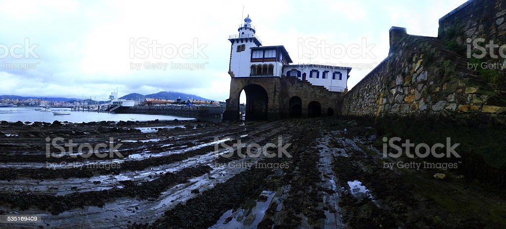 Vista al puerto stock photo