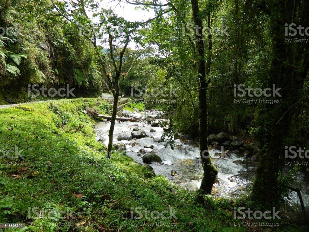 Vista al Río Chama stock photo
