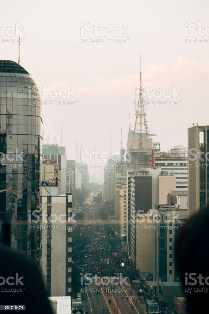 vista avenida paulista royalty-free stock photo