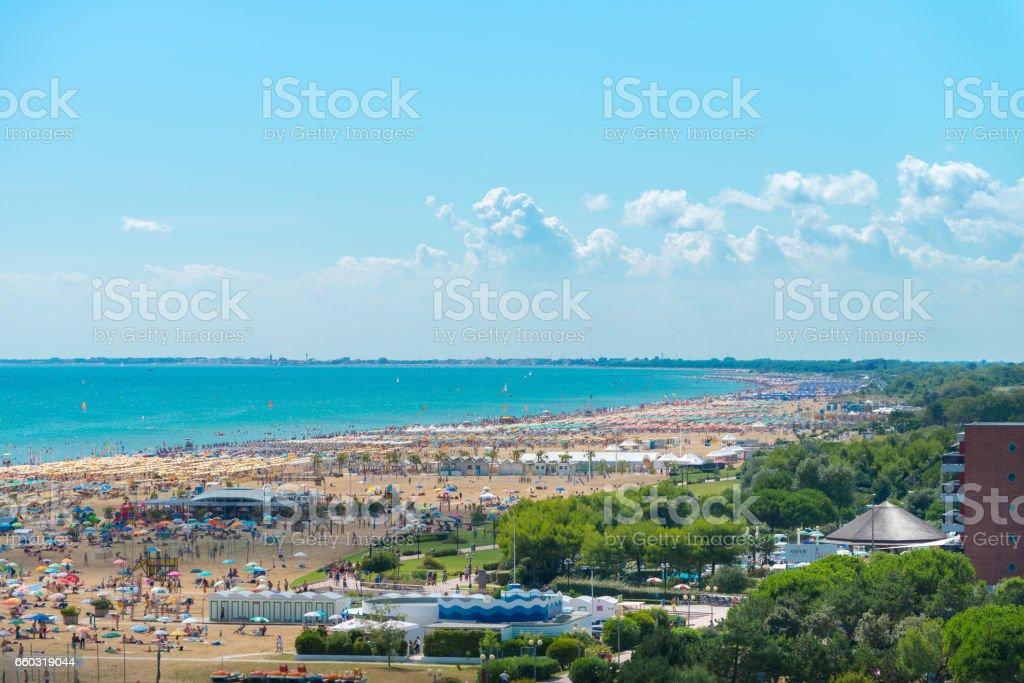 Vista di Bibione spiaggia,2 stock photo