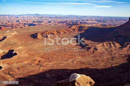Vista from Grand Viewpoint in Island in the Sky section of Canyonlands National Park