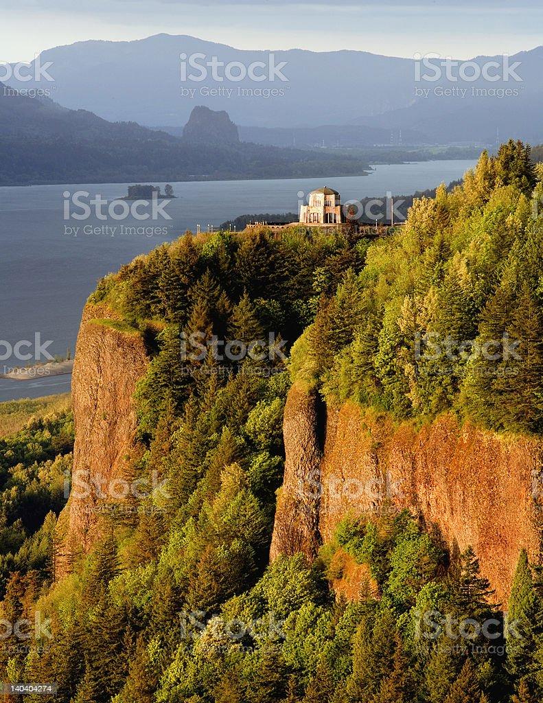 Vista House, Columbia River Gorge stock photo