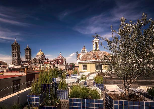Vista of Puebla A vista of church towers in Puebla, Mexico puebla state stock pictures, royalty-free photos & images