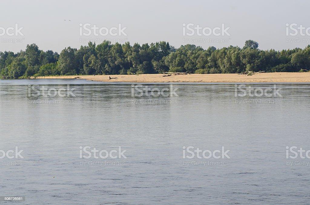 Vistula River near Warsaw stock photo