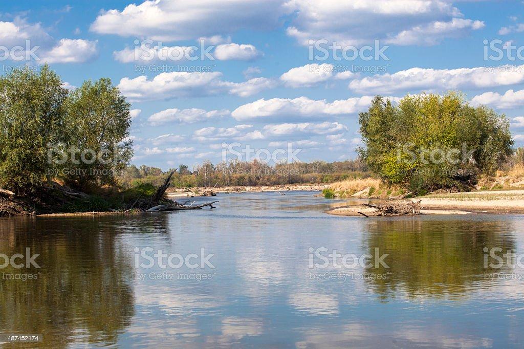 Vistula river stock photo