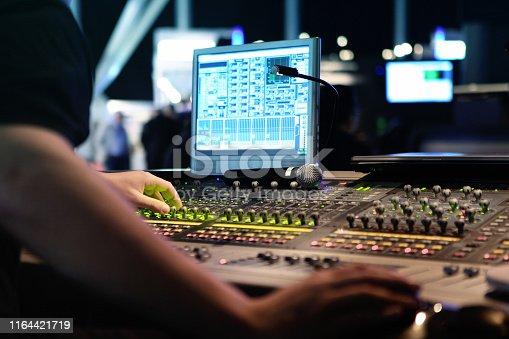 istock visual and audio mixers for montage and production at live events 1164421719