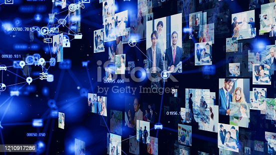 1146418904 istock photo Visual contents concept. Social networking service. Streaming video. communication network. 1210917286