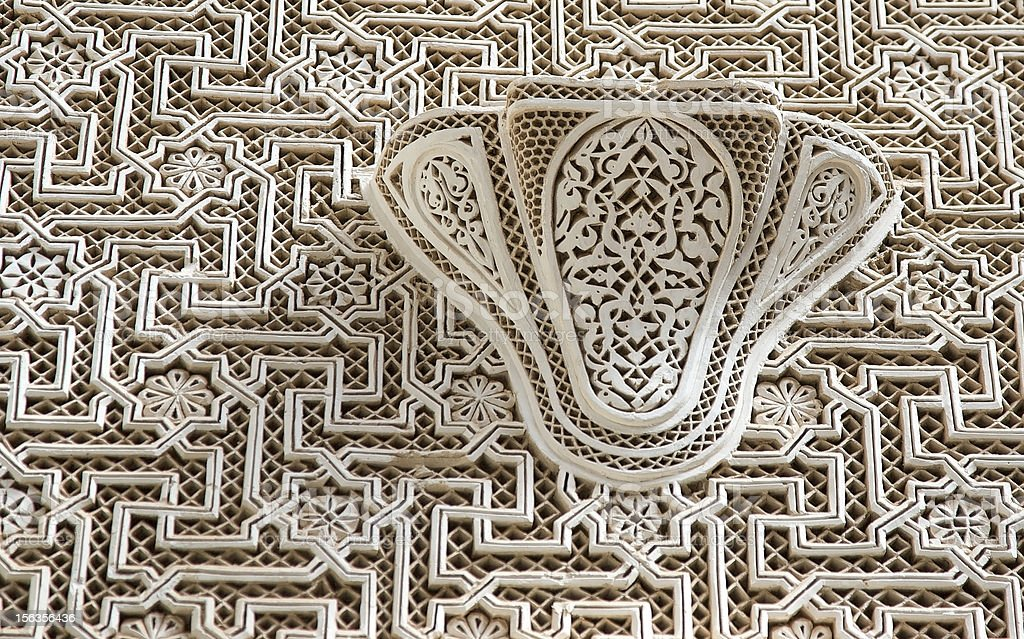 Visual pattern at the Telouet Kasbah, Morocco royalty-free stock photo